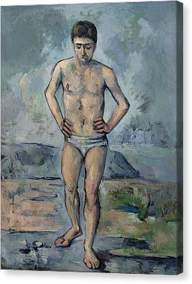 The Bather 1885 Canvas Print by Paul Cezanne