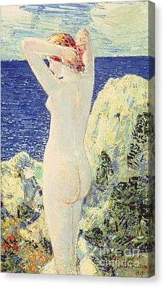 The Bather Canvas Print by Childe Hassam