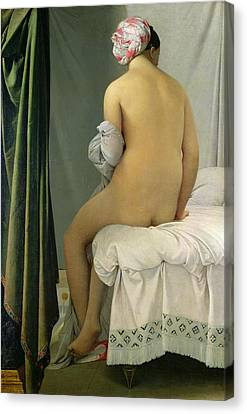 The Bather Canvas Print by Jean Auguste Dominique Ingres