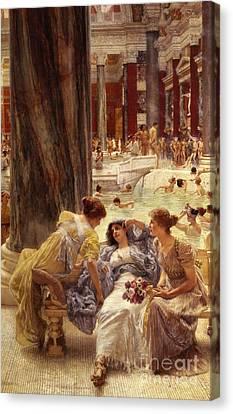 The Baths Of Caracalla Canvas Print by Sir Lawrence Alma-Tadema