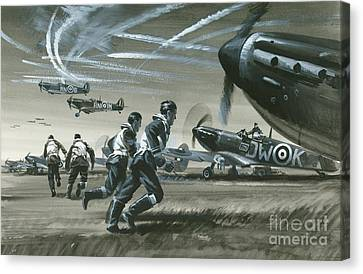The Battle Of Britain Canvas Print by Wilf Hardy