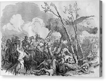 The Battle Of Bull Run Canvas Print by War Is Hell Store