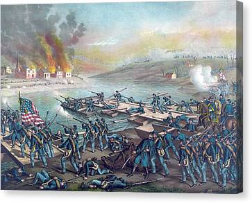 The Battle Of Fredericksburg Canvas Print by American School
