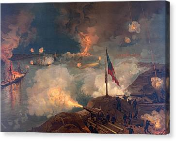 The Battle Of Port Hudson, 1863  Canvas Print by American School