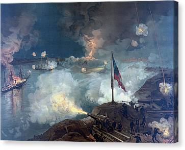 The Battle Of Port Hudson - Civil War Canvas Print by War Is Hell Store