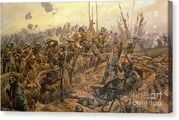 The Battle Of The Somme Canvas Print by Richard Caton Woodville II