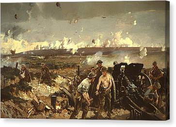 The Battle Of Vilmy Ridge Canvas Print by Mountain Dreams