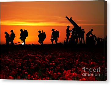 The Battle Canvas Print by Stephen Smith