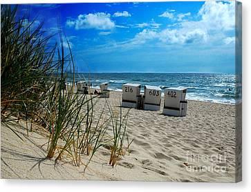 The Beach Canvas Print by Hannes Cmarits