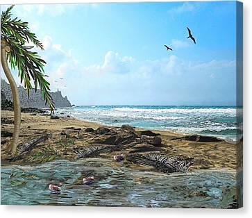 The Beach Canvas Print by Tony Rodriguez
