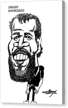 The Beard Sergio Rodriguez Canvas Print by Miguel Romani
