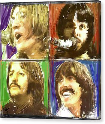 The Beatles - Let It Be Canvas Print by Russell Pierce