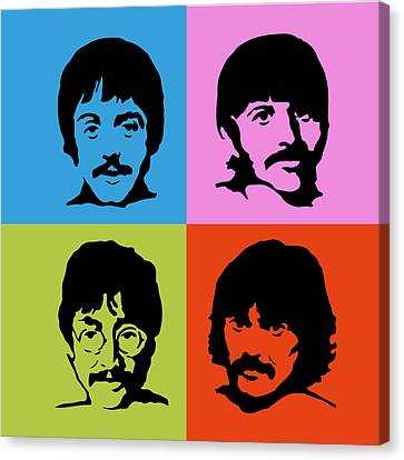 The Beatles Colors Canvas Print by Caio Caldas