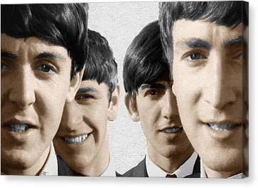 The Beatles Painting 1963 Color Canvas Print by Tony Rubino