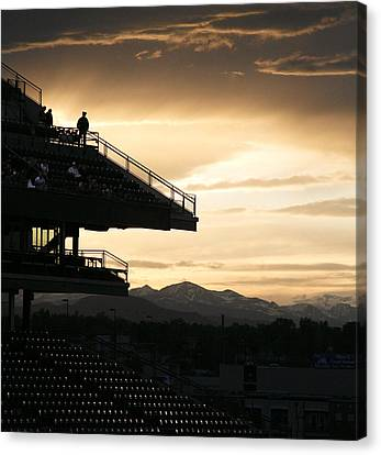 The Beauty Of Baseball In Colorado Canvas Print by Marilyn Hunt