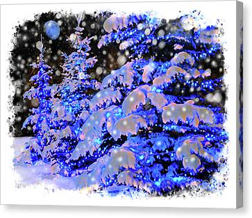 The Beauty Of Winter II - Christmas Card 2016 - 7 Canvas Print by Al Bourassa