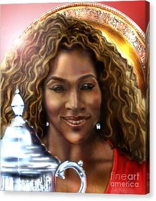 The Beauty Victory That Is Serena Canvas Print by Reggie Duffie