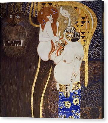 The Beethoven Frieze Canvas Print by Gustav Klimt