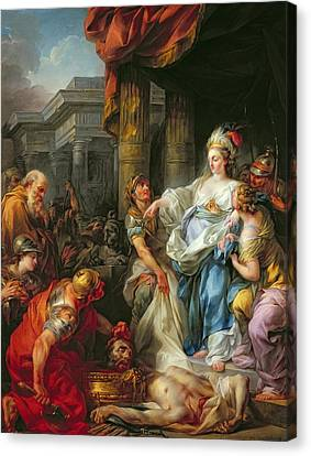 The Beheading Of Cyrus IIi Canvas Print by Jean Simon Berthelemy