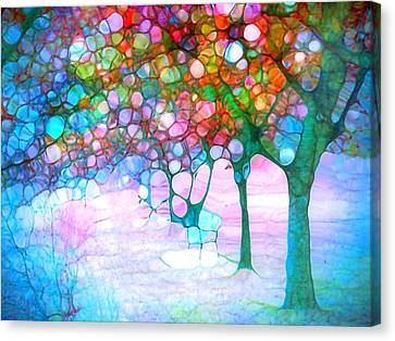 The Bench Beneath My Daydreams Canvas Print by Tara Turner