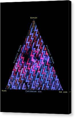 The Bermuda Triangle Canvas Print by Filippo B