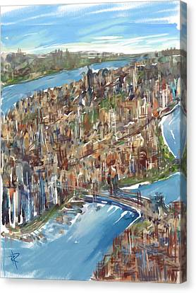 The Big Apple Canvas Print by Russell Pierce