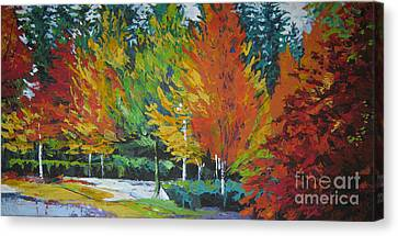 The Big Red Tree Canvas Print by Lee Ann Shepard