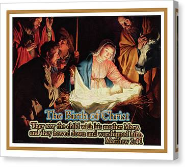 The Birth Of Christ Canvas Print by John H Parker
