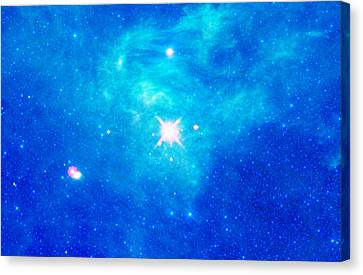 The Birth Of Stars In The Constellation Camelopardalis Canvas Print by American School