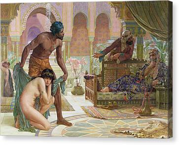 The Bitter Draught Of Slavery Canvas Print by Ernest Normand
