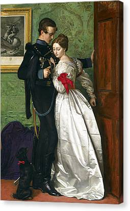 The Black Brunswicker Canvas Print by Sir John Everett Millais