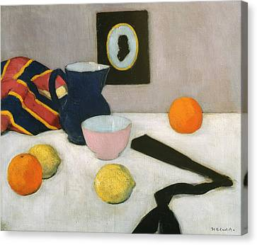 The Black Fan Canvas Print by Francis Campbell Boileau Cadell