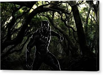The Black Panther Canvas Print by The DigArtisT