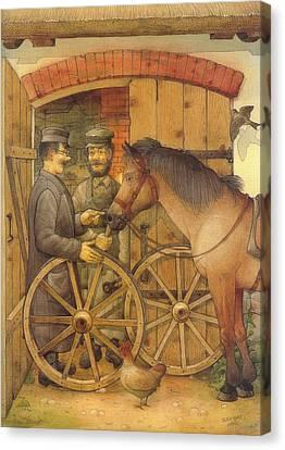 The Blacksmith Canvas Print by Kestutis Kasparavicius