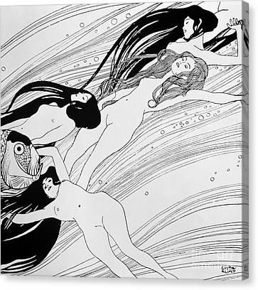 The Blood Of Fish Canvas Print by Gustav Klimt