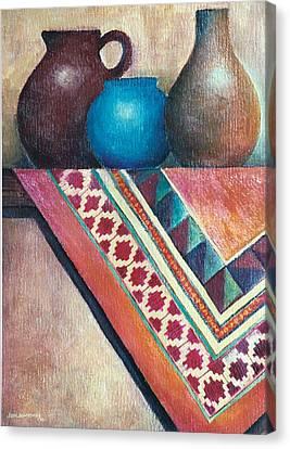 The Blue Jar IIi Canvas Print by Jun Jamosmos