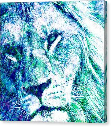 The Blue Lion Canvas Print by Stacey Chiew