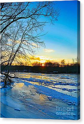 The Blues Of Winter Canvas Print by Robert Pearson