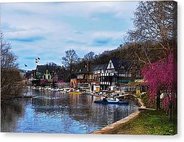 The Boat House Row Canvas Print by Bill Cannon