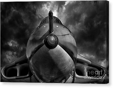 The Bomber Bw Canvas Print by Stephen Smith