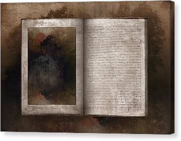 The Book Of Life Canvas Print by Ron Jones