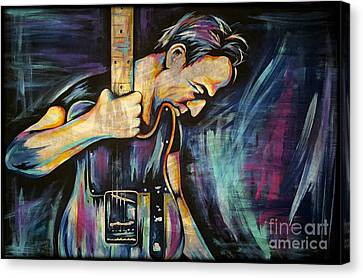 The Boss Bruce Springsteen Canvas Print by Amy Belonio