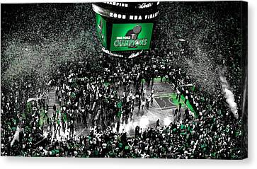 The Boston Celtics 2008 Nba Finals Canvas Print by Brian Reaves