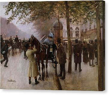 The Boulevards Canvas Print by Jean Beraud