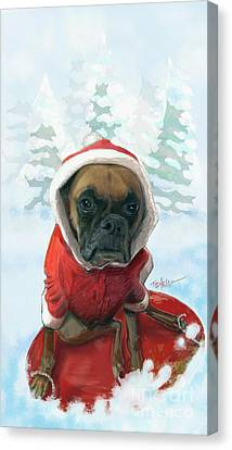 The Heavy Weight Boxer...  Canvas Print by Mark Tonelli