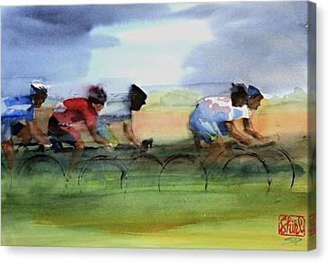 The Breakaway Canvas Print by Shirley  Peters