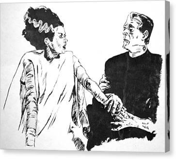 The Bride Of Frankenstein Canvas Print by Bryan Bustard