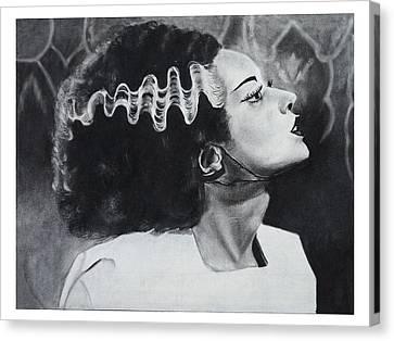 The Bride Of Frankenstein Canvas Print by Create Art