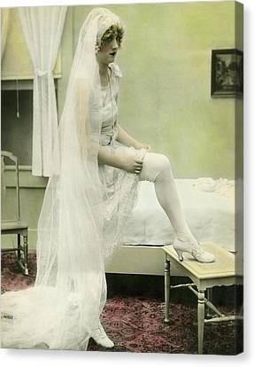 The Bride Retires Canvas Print by Underwood Archives