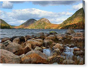 The Bubbles - 1 - Jordan Pond - Acadia National Park Canvas Print by Nikolyn McDonald